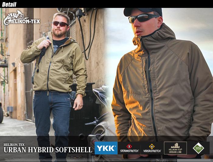 Helikon-Tex Homme Urban Hybrid Veste Softshell StormStretch Noir