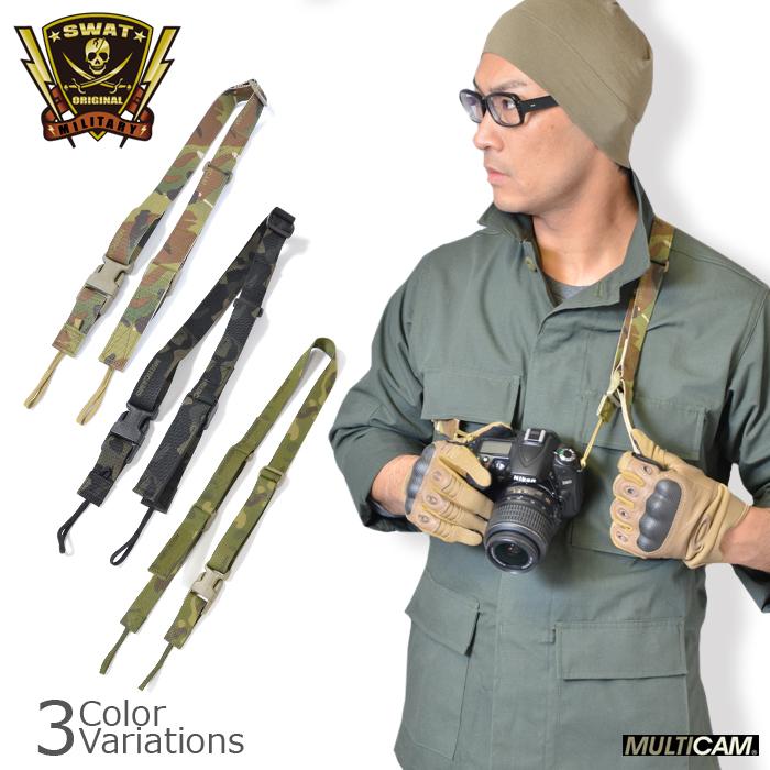SWAT ORIGINAL(スワットオリジナル) タクティカル カメラストラップ タイプ2 TACTICAL CAMERA STRAP TYPE2【レターパックライト対応】